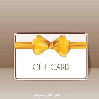 Gift card with yellow ribbon