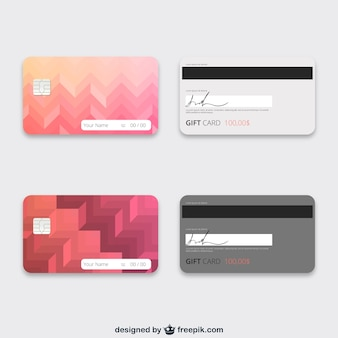 Gift cards template