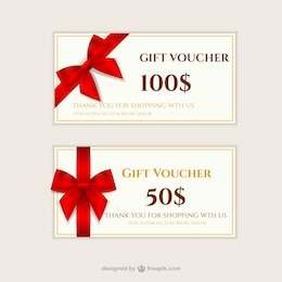 Gift vouchers pack