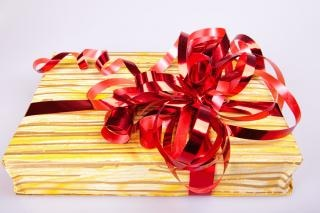 gift with ribbon  knot