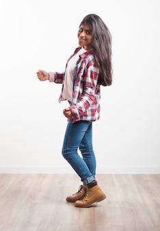 Girl dancing in a room