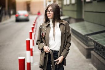 街中の女の子