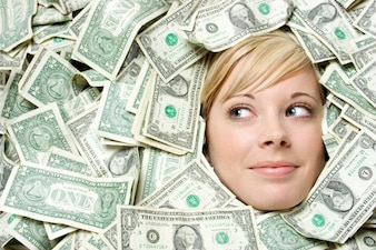 Girl success business dollar wealth