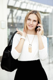 Girl talking with a mobile