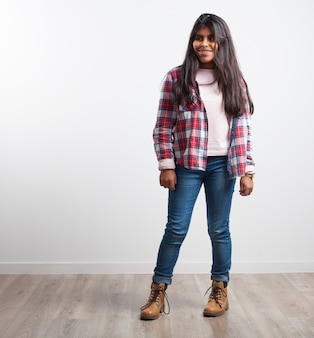 Girl with jeans and shirt