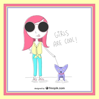 Girls are cool illustration
