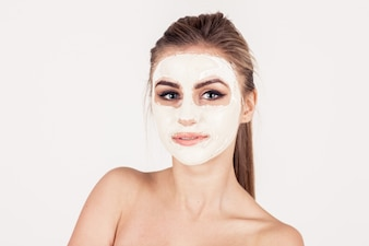 Glamour woman shoulder person skincare