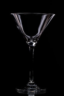 Glass in a black background