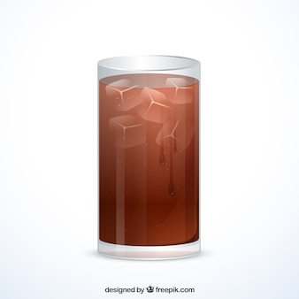 Glass of soft drink