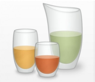Glasses and pitcher vector illustration