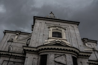 Gloomy church