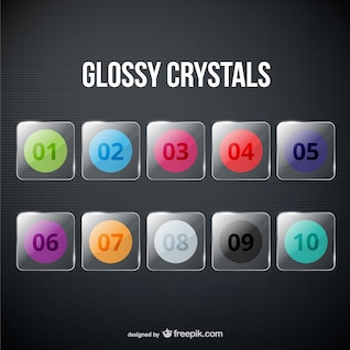 Glossy crystals pack