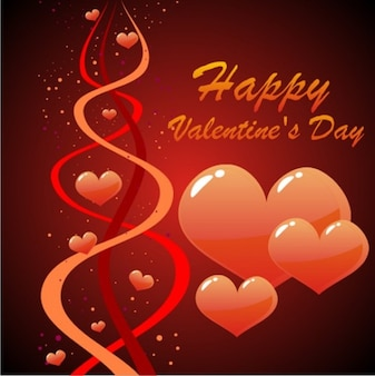 Glossy hearts valentines day vector design background