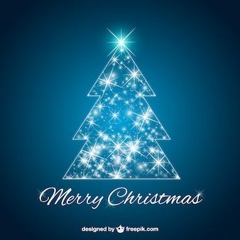 Glowing Christmas tree vector