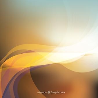 Glowing wavy background
