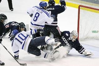 goalie net sports players teams action hockey