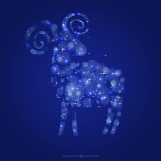 Goat with stars