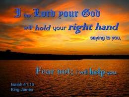 God Holds Hand