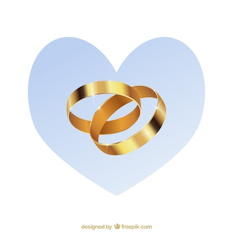 gold Wedding rings vector pack