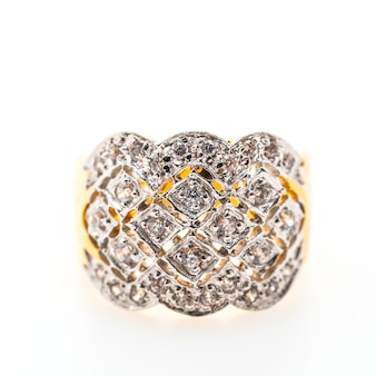 Golden accessory with diamonds