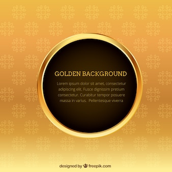 Golden background template