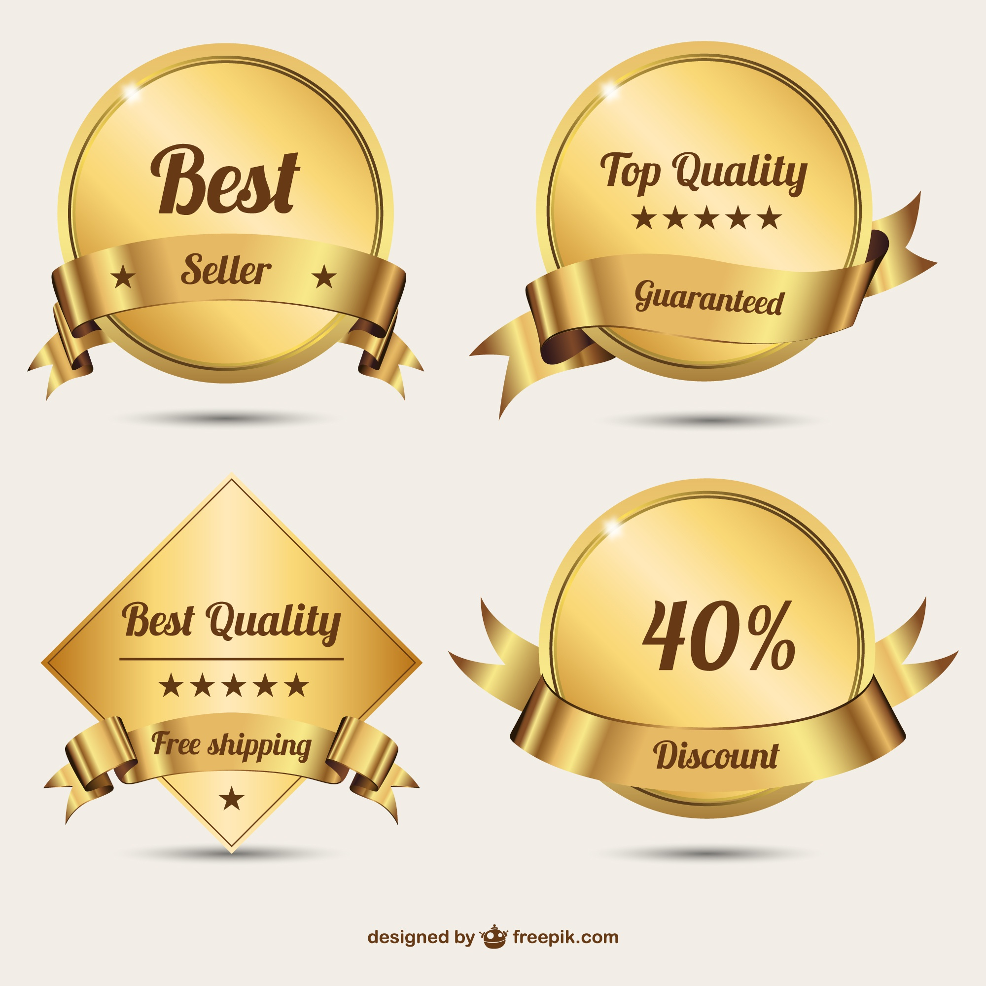 Golden badges free design
