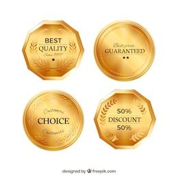 Golden badges pack