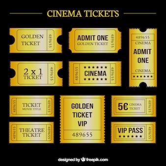 Golden cinema tickets