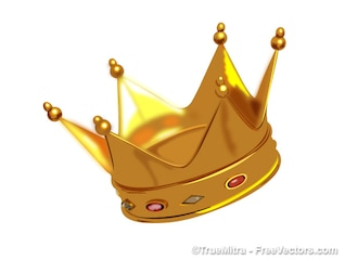 Golden crown backgrounds vector set
