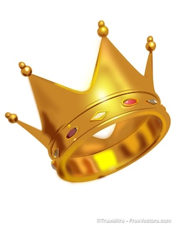 Golden crown realistic design vector