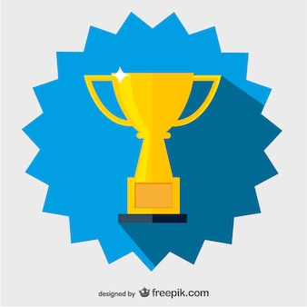 Golden cup vector icon