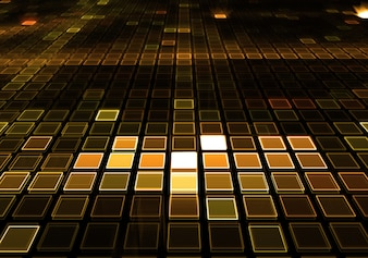 Golden dj music dance floor background