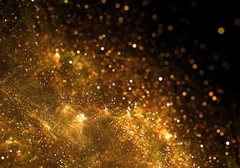黄金の粒子バースト背景