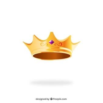 Golden queen crown