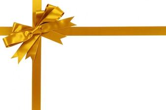 ゴールドギフトリボンと弓