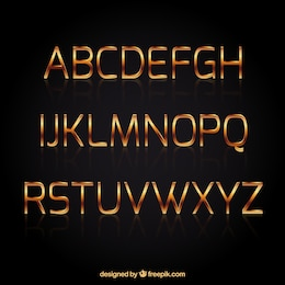 Golden typography