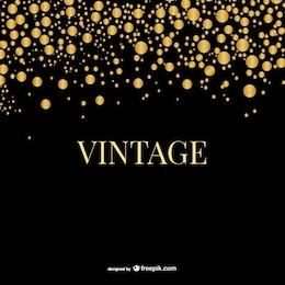 Golden vintage bubbles template