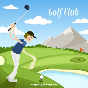 Golf club illustration