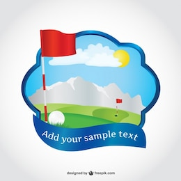 Golf course vector art