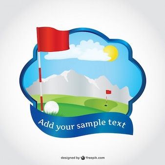 Golf course vector art
