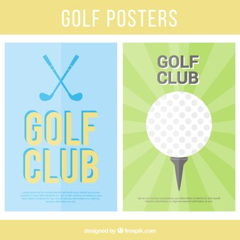 Golf posters collection