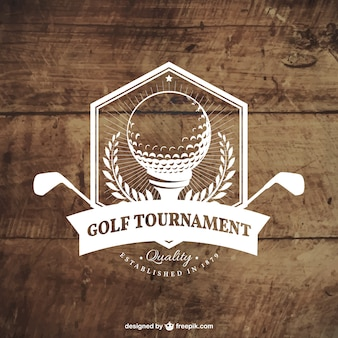 Golf tournament badge