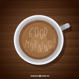 Good morning background with coffee