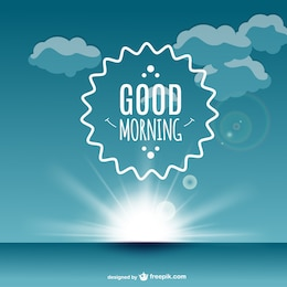 Good morning label vector