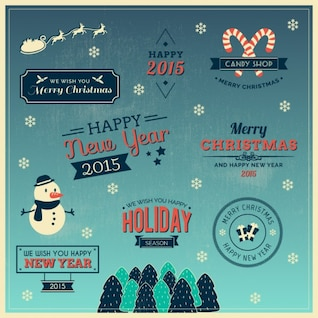Good wishes for Christmas vectors