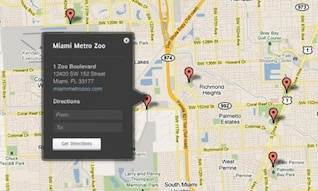 google maps custom tooltip overlay psd