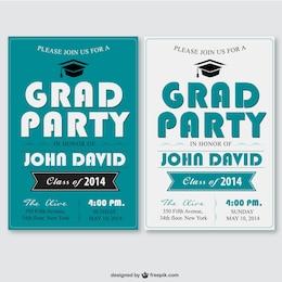 Grad party vector template