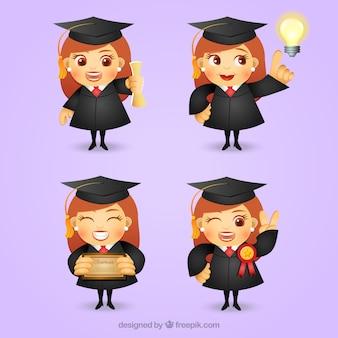 Graduate girl character