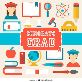 Graduation congratulations vector card