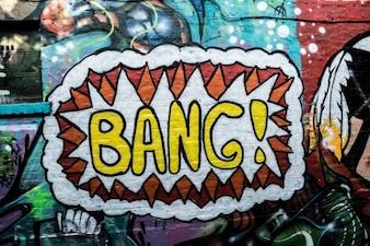 Graffiti in a brick wall